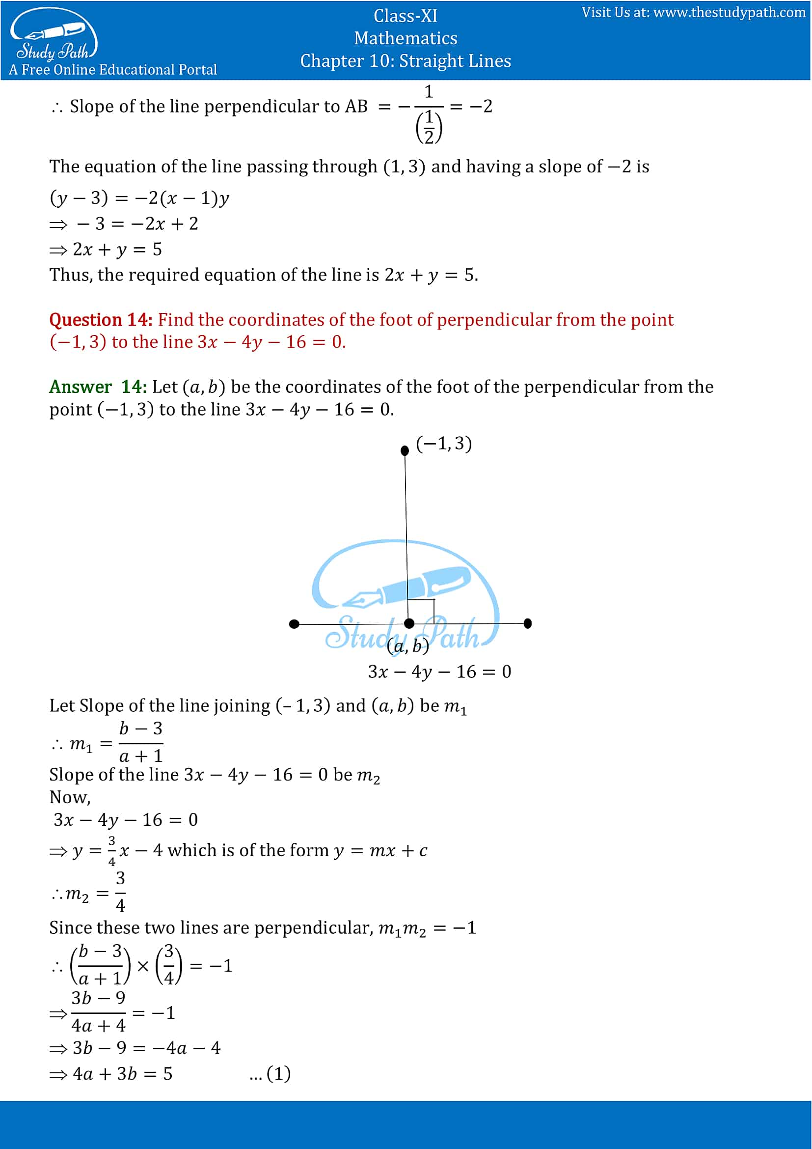 NCERT Solutions for Class 11 Maths chapter 10 Straight Lines Exercise 10.3 part-10