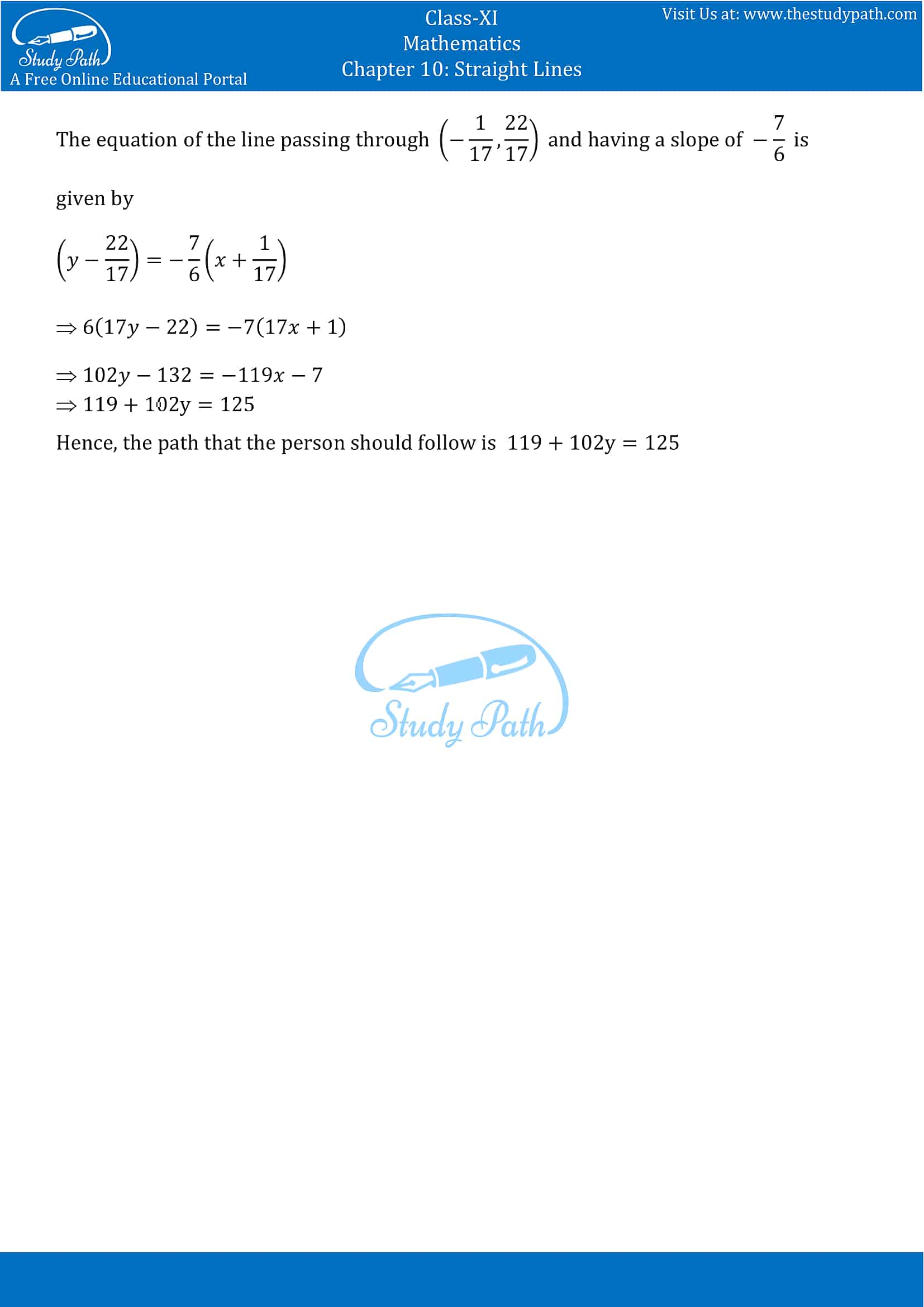 NCERT Solutions for Class 11 Maths chapter 10 Straight Lines Miscellaneous Exercise Part-20