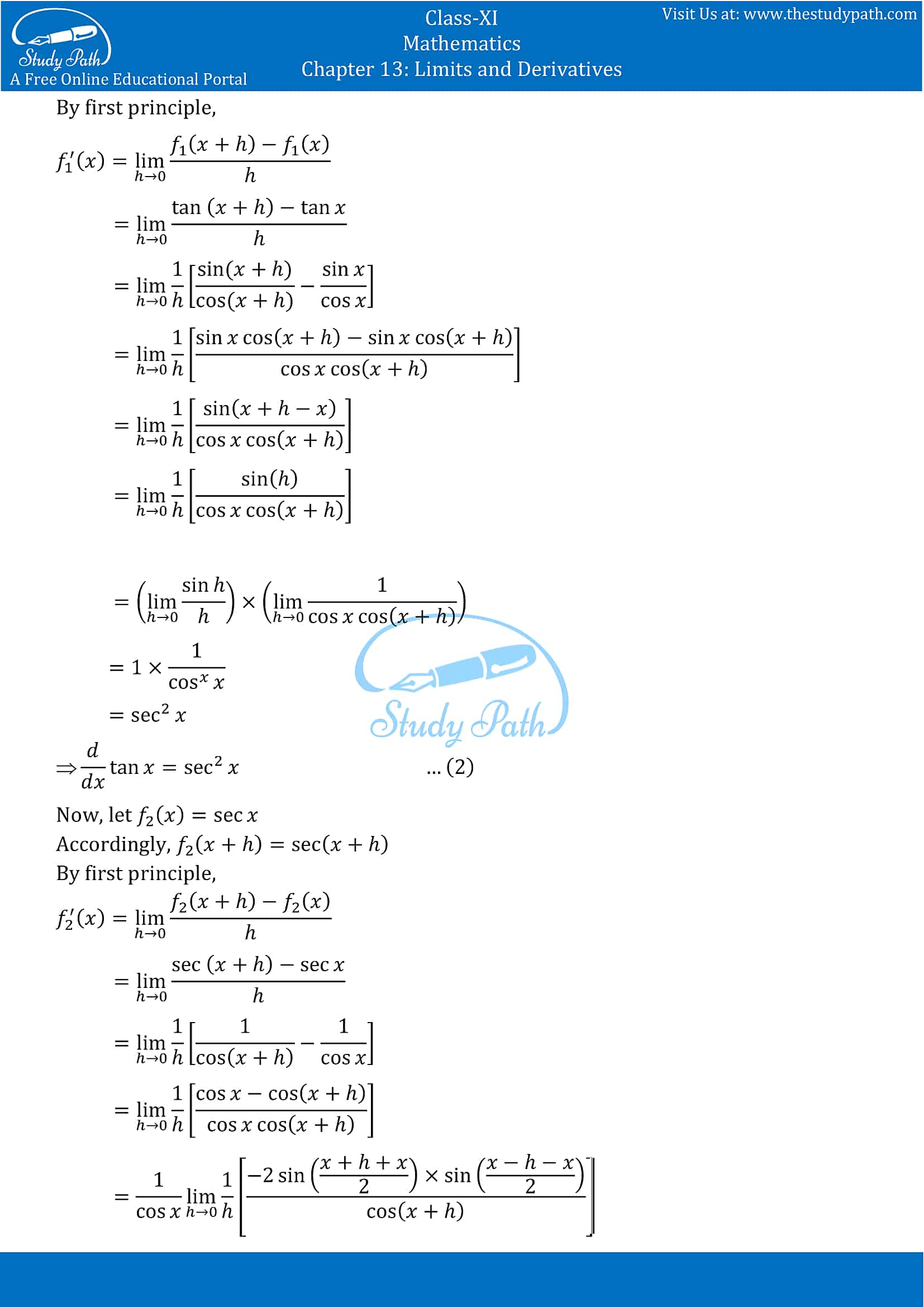 NCERT Solutions for Class 11 Maths chapter 13 Limits and Derivatives Miscellaneous Exercise Part-21