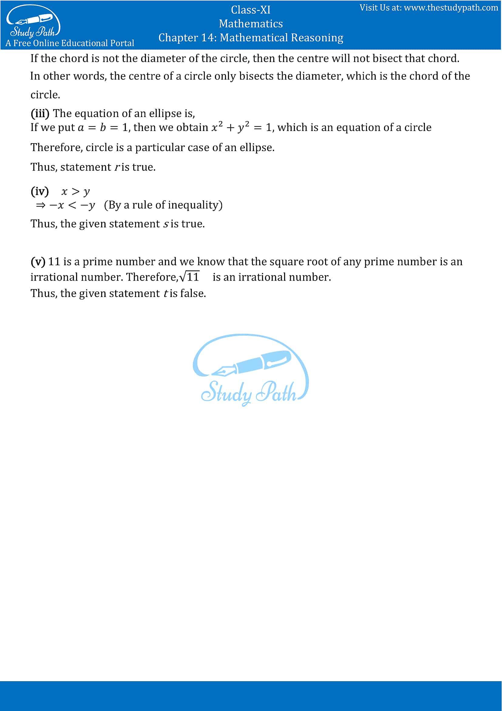 NCERT Solutions for Class 11 Maths Chapter 14 Mathematical Reasoning Part 12