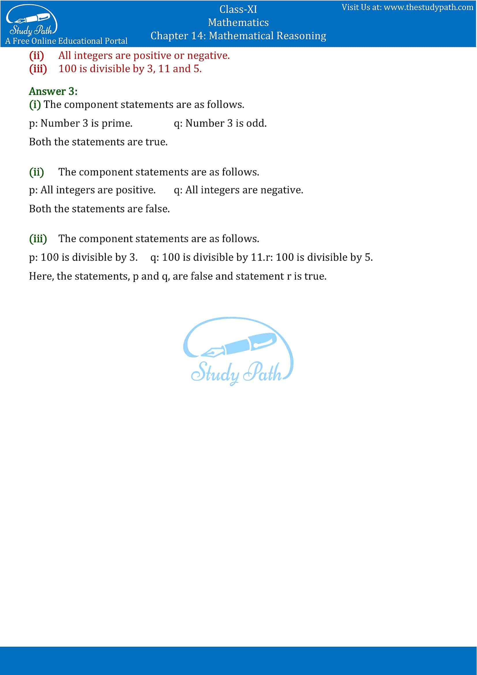 NCERT Solutions for Class 11 Maths Chapter 14 Mathematical Reasoning Part 4