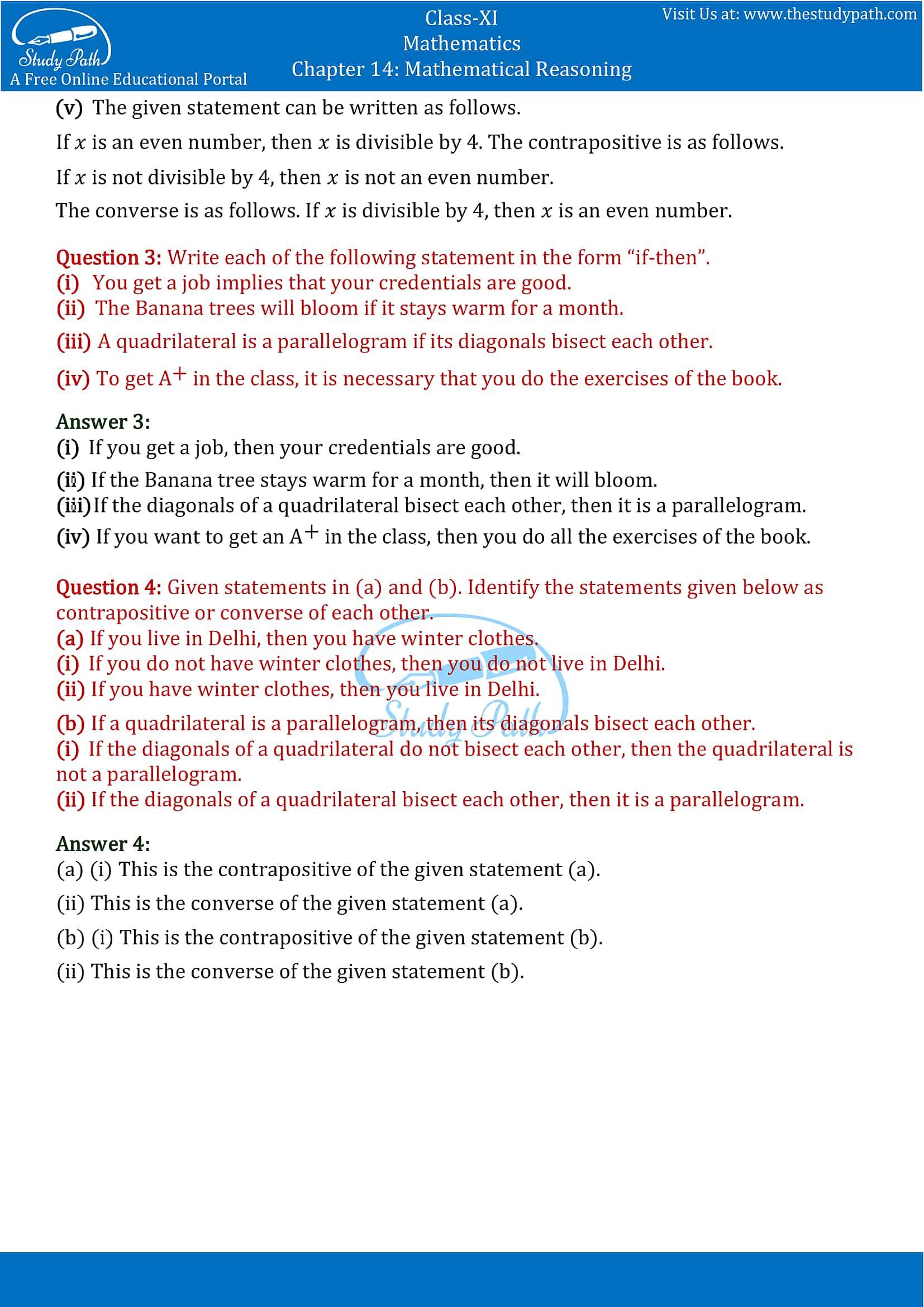 NCERT Solutions for Class 11 Maths Chapter 14 Mathematical Reasoning Part 8