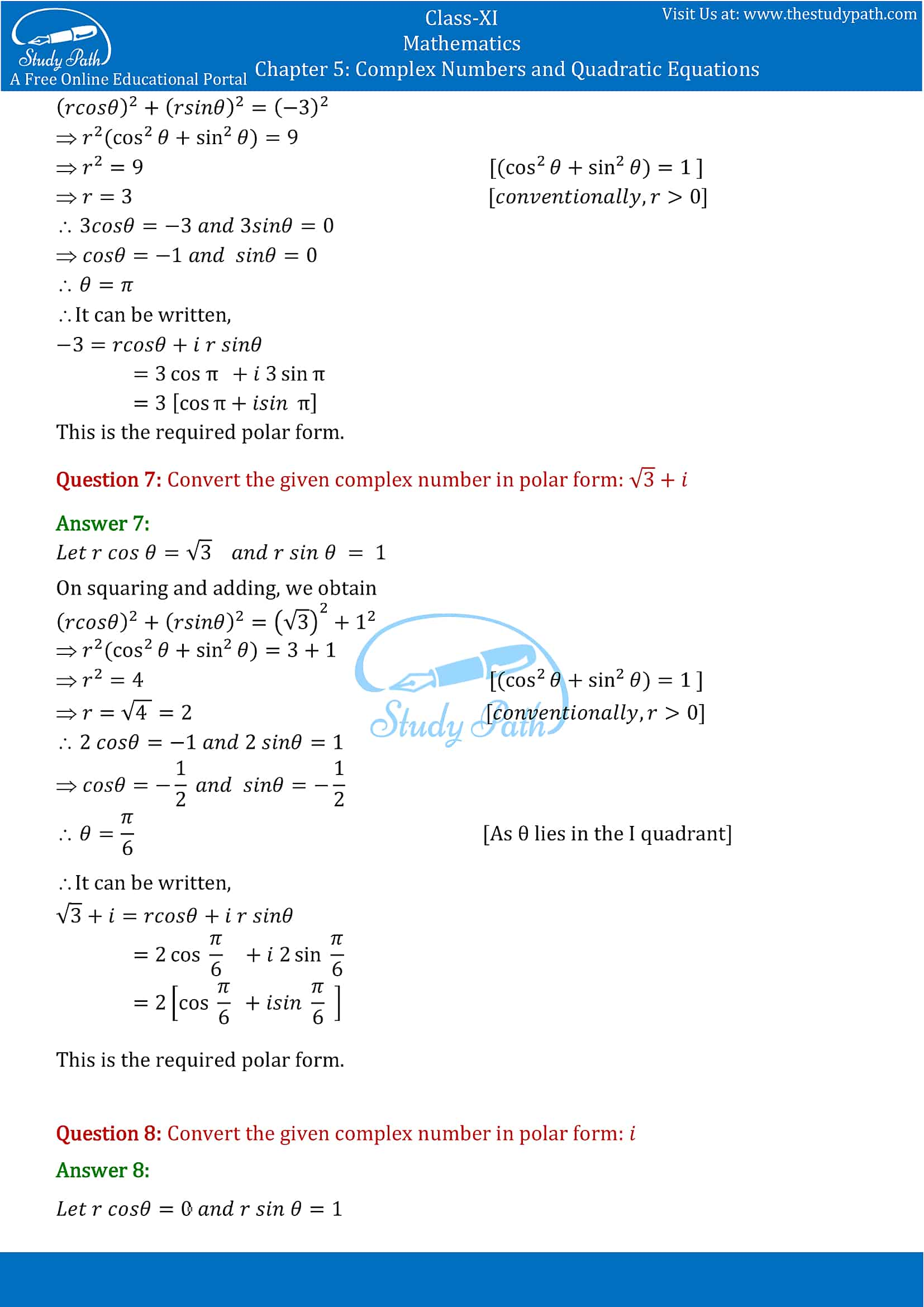 NCERT Solutions for Class 11 Maths chapter 5 Complex Numbers and Quadratic Equations Exercise 5.2 part-4