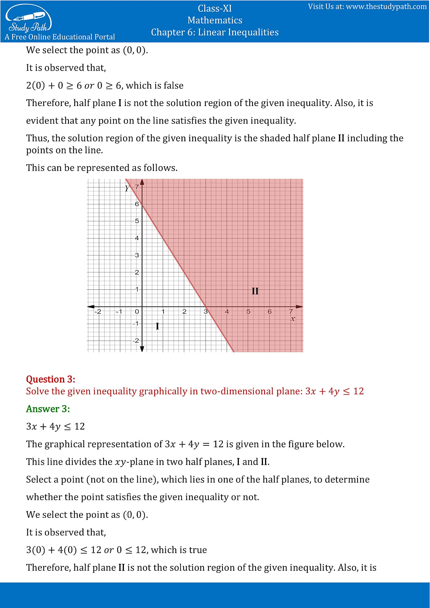 NCERT Solutions for Class 11 Maths chapter 6 Linear Inequalities Exercise 6.2 Part-2