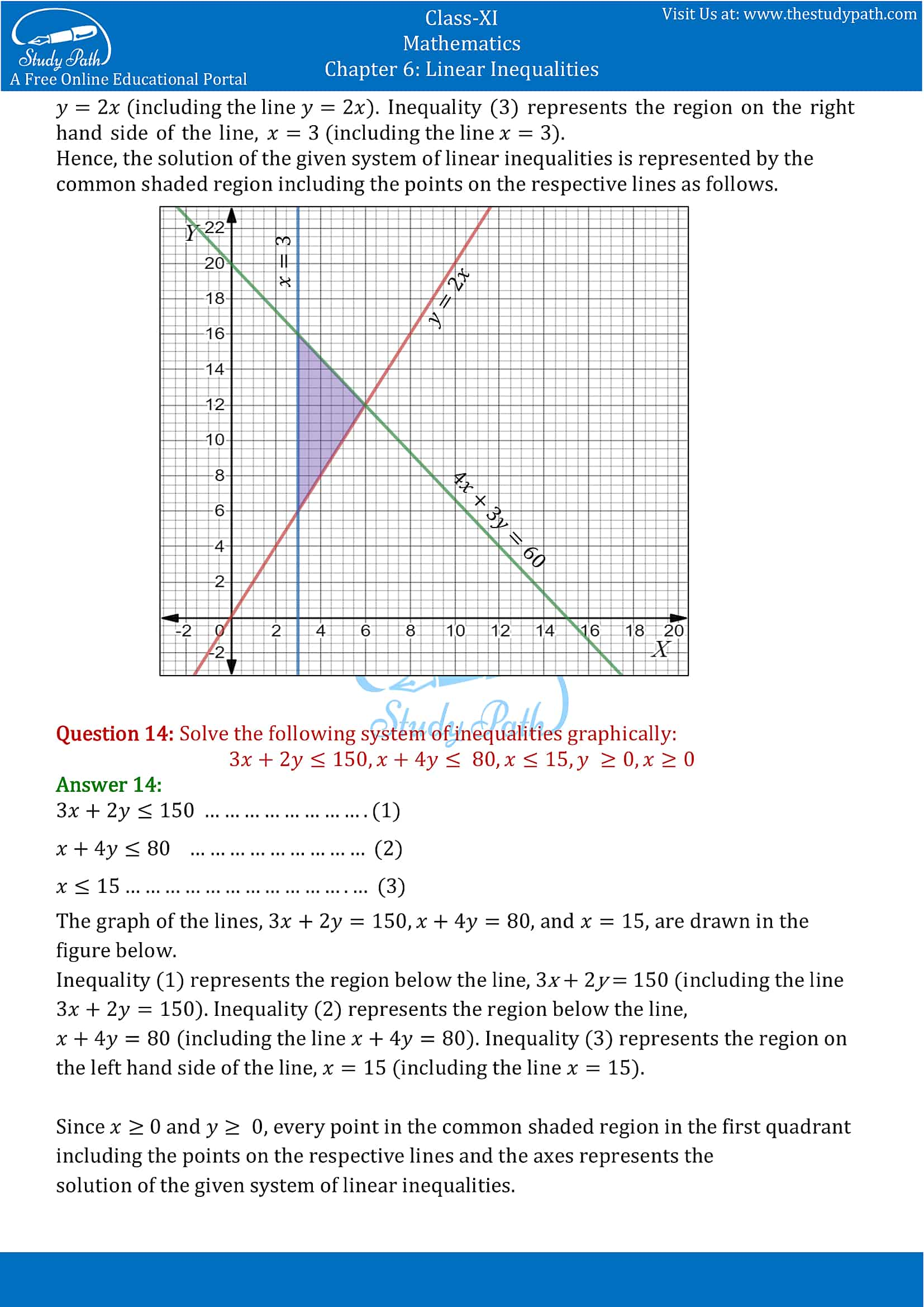 NCERT Solutions for Class 11 Maths chapter 6 Linear Inequalities Exercise 6.3 Part-10