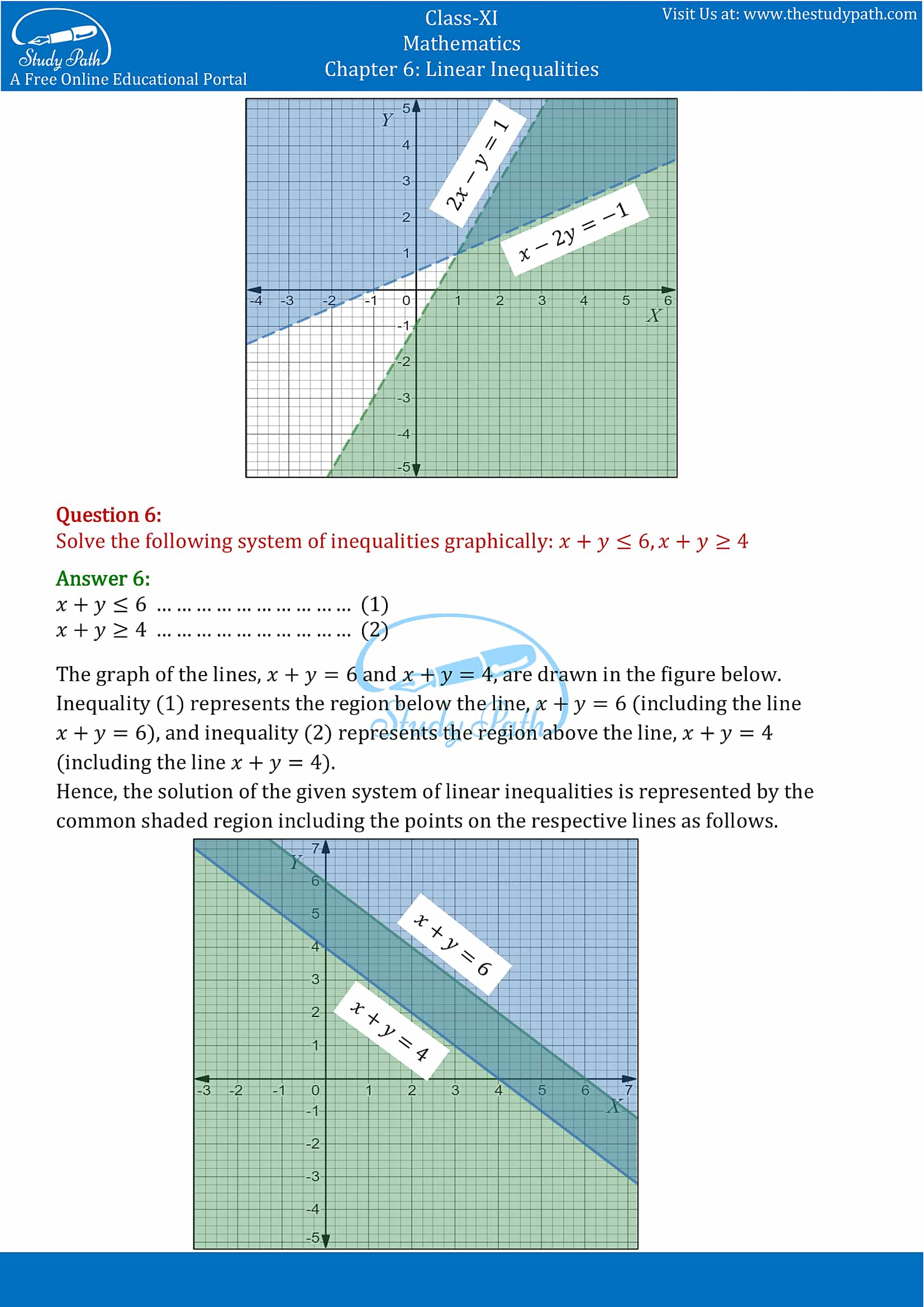 NCERT Solutions for Class 11 Maths chapter 6 Linear Inequalities Exercise 6.3 Part-4