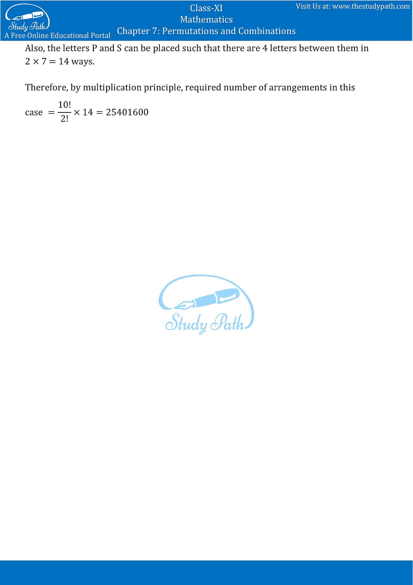 NCERT Solutions for Class 11 Maths chapter 7 Permutations and Combinations part-13