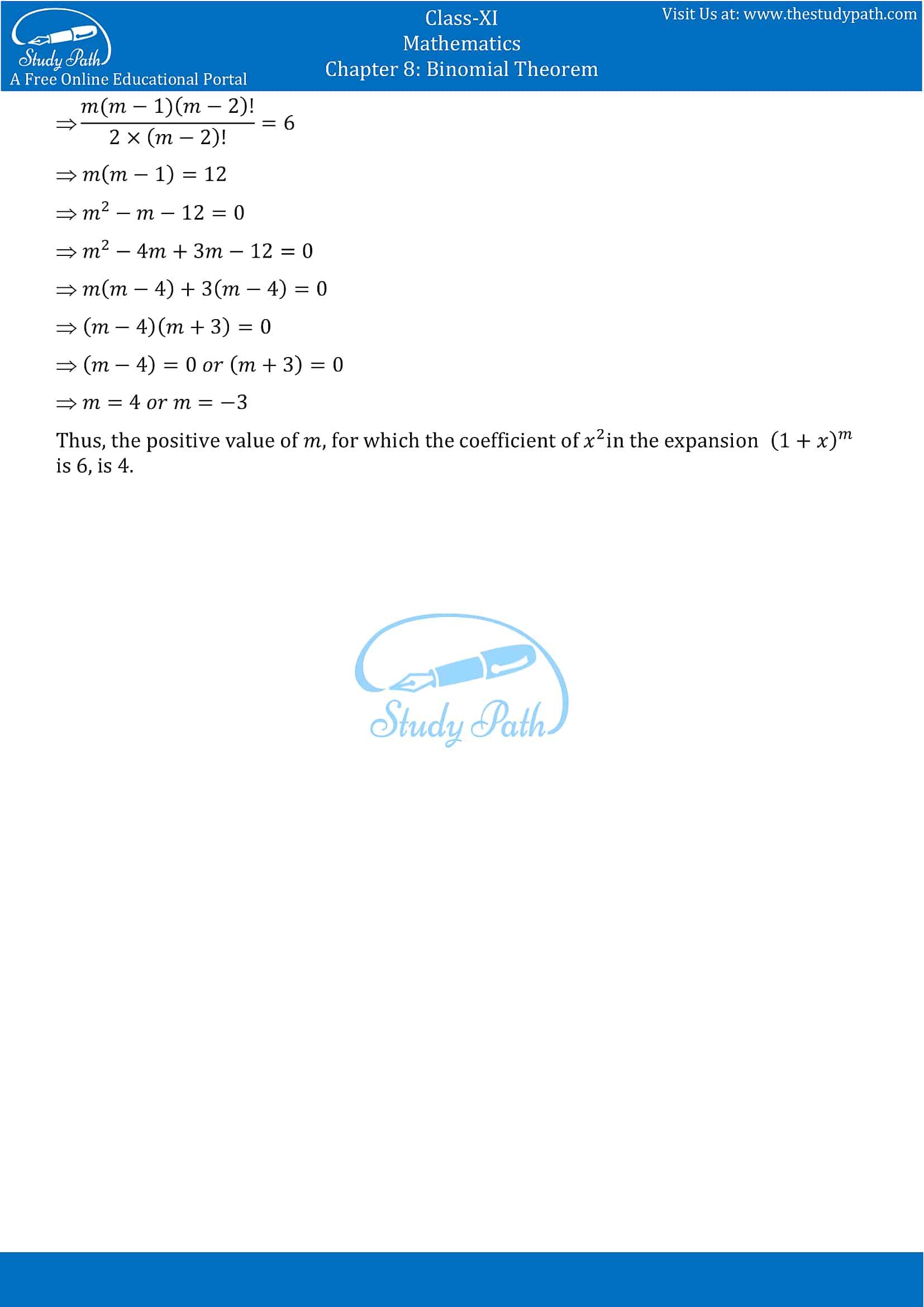 NCERT Solutions for Class 11 Maths chapter 8 Binomial Theorem part-13