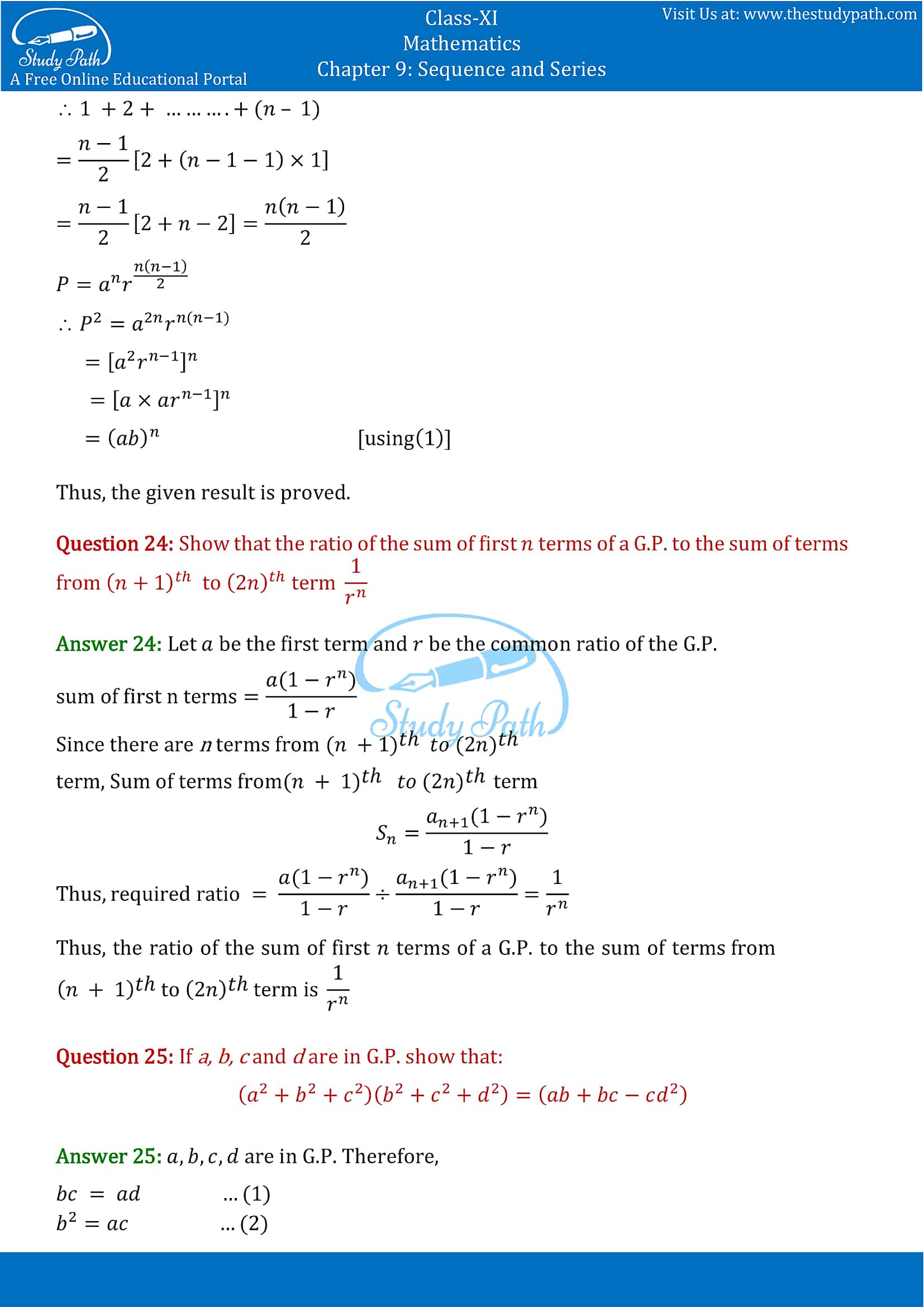 NCERT Solutions for Class 11 Maths chapter 9 Sequence and Series Exercise 9.3 Part-14