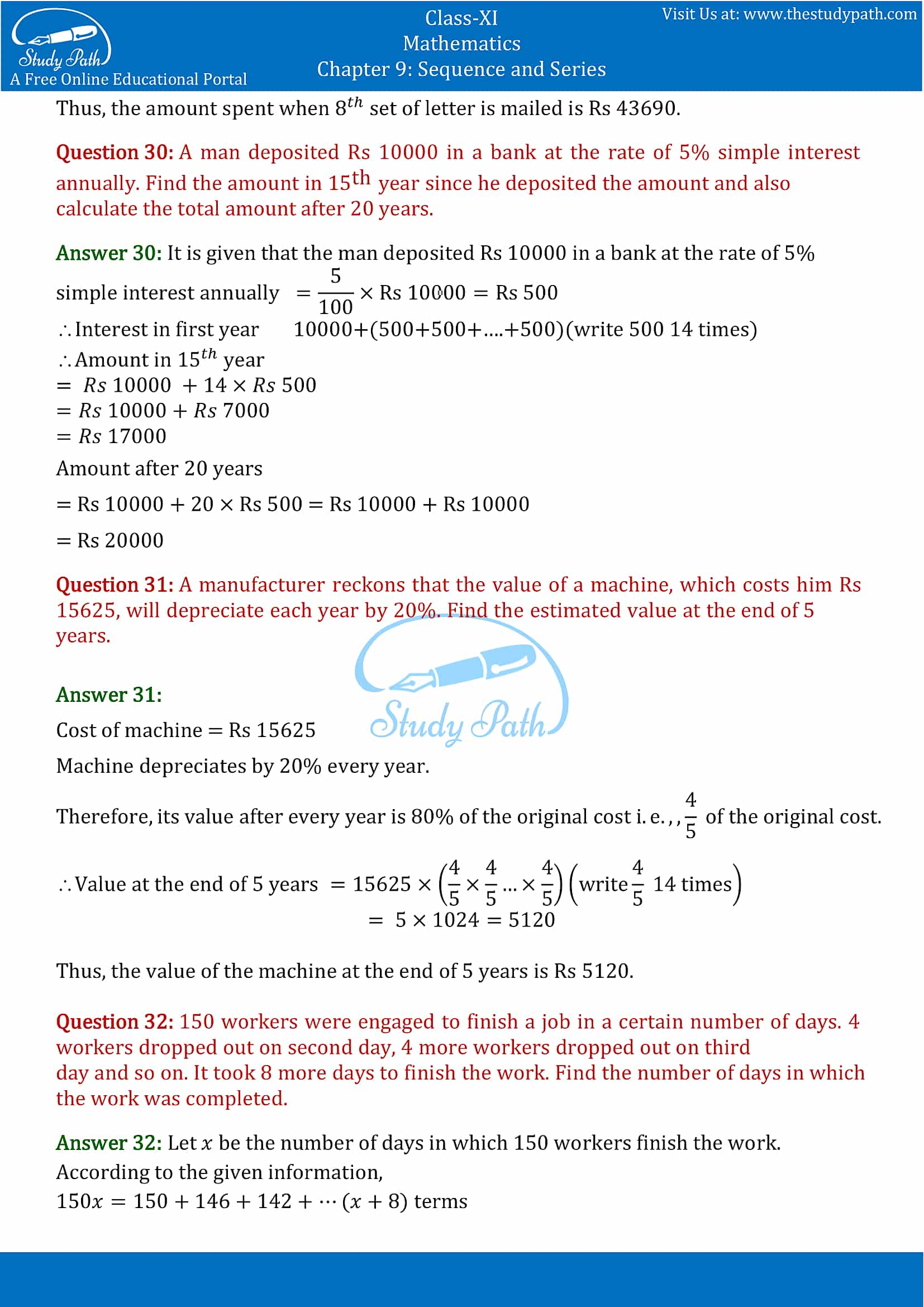 NCERT Solutions for Class 11 Maths chapter 9 Sequence and Series Miscellaneous Exercise Part-21