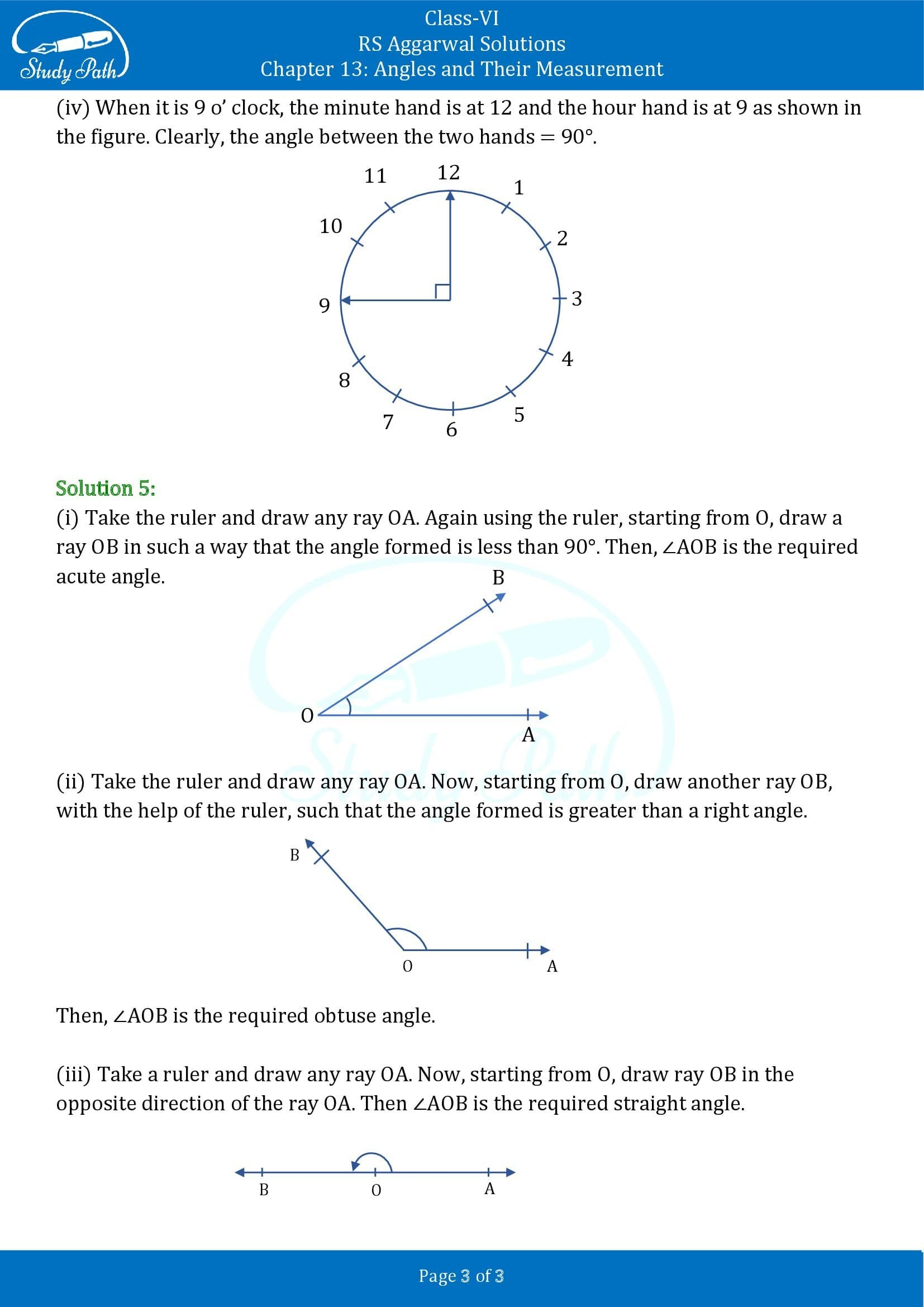 RS Aggarwal Solutions Class 6 Chapter 13 Angles and Their Measurement Exercise 13B 00003