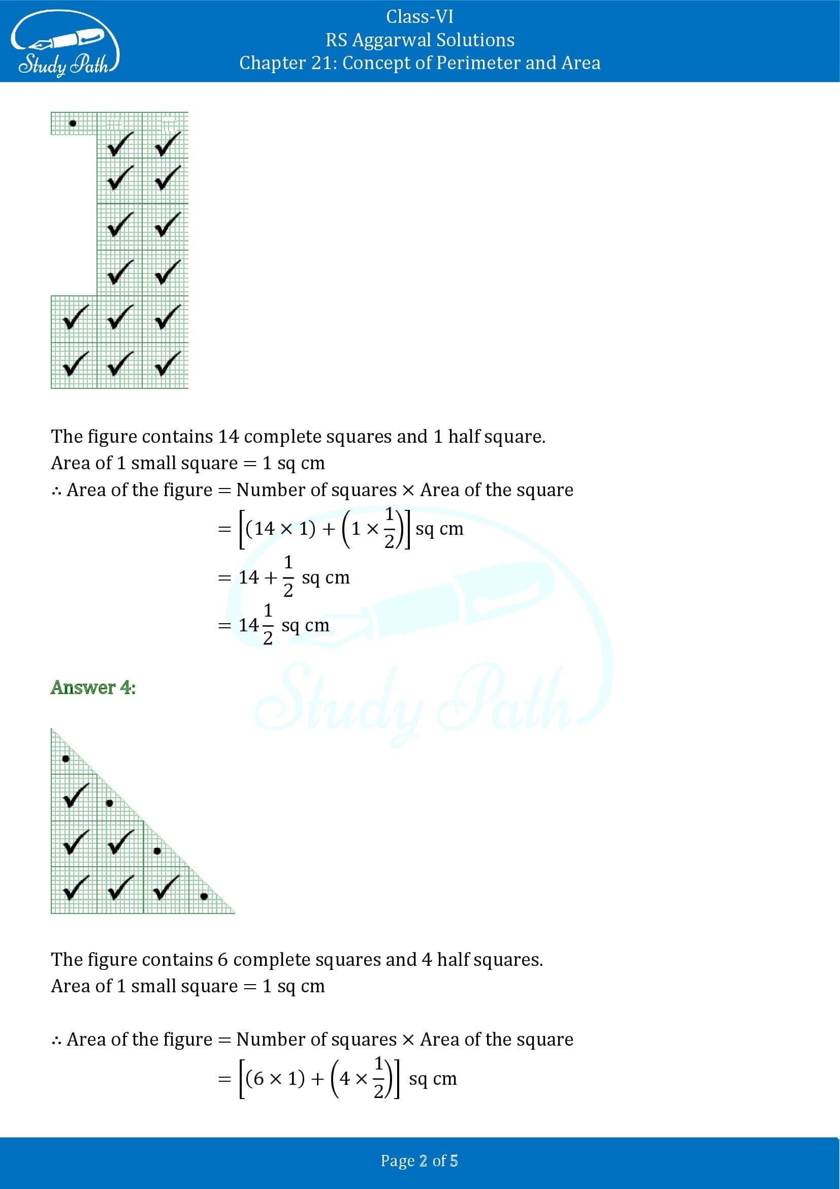 RS Aggarwal Solutions Class 6 Chapter 21 Concept of Perimeter and Area Exercise 21C 00002