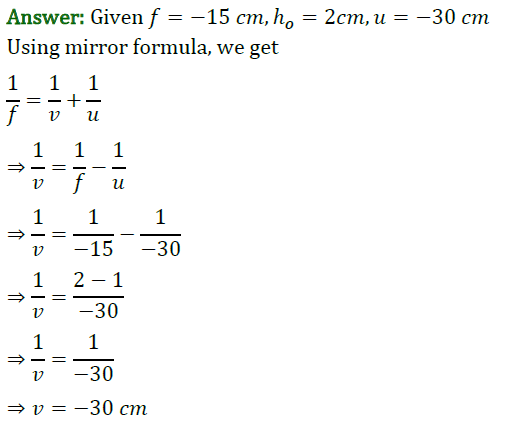 Class 10 Chapter 10 Light Reflection and Refraction Extra Question 42 i