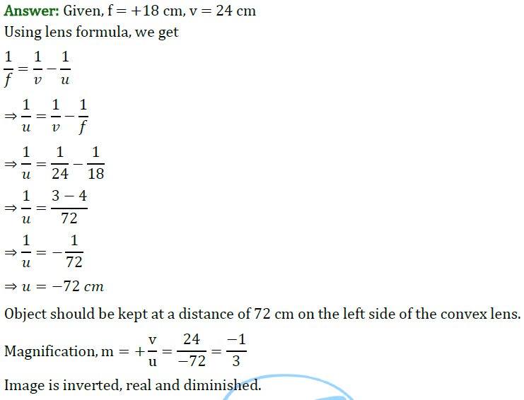 Class 10 Chapter 10 Light Reflection and Refraction Extra Question 47