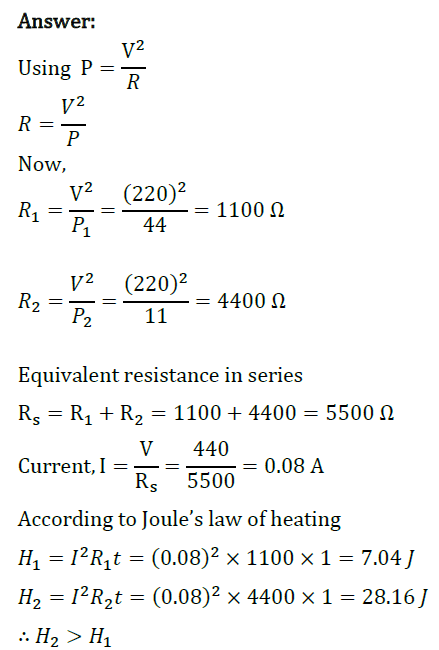 Class 10 Chapter 12 Electricity Extra Questions 26