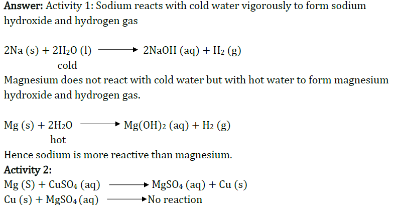 Class 10 Chapter 3 Metals and Non metals Extra Question 25