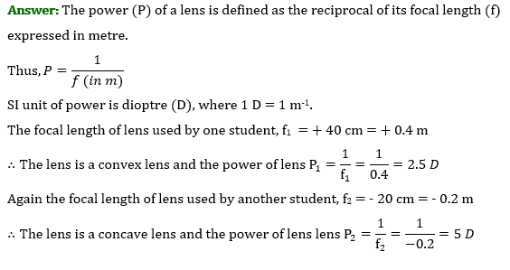 Class 10 Science Chapter 10 Light Reflection and Refraction Important Question 26