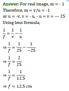 Class 10 Science Chapter 10 Light Reflection and Refraction Important Question 32 i