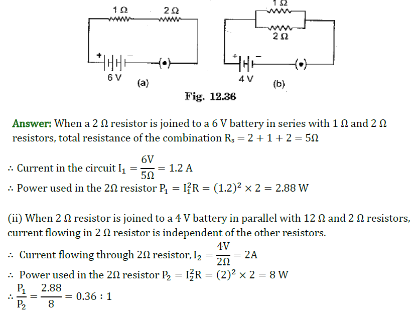 Class 10 Science Chapter 12 Electricity Important Question 13