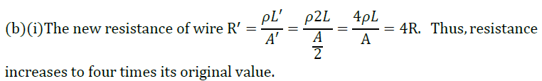 Class 10 Science Chapter 12 Electricity Important Question 44 ii