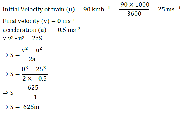Extra Questions for Class 9 Science Chapter 8 Motion 4