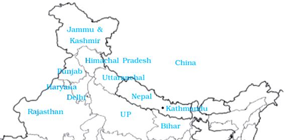 NCERT Solutions for Class 9 English Beehive Chapter 10 Kathmandu Part 1