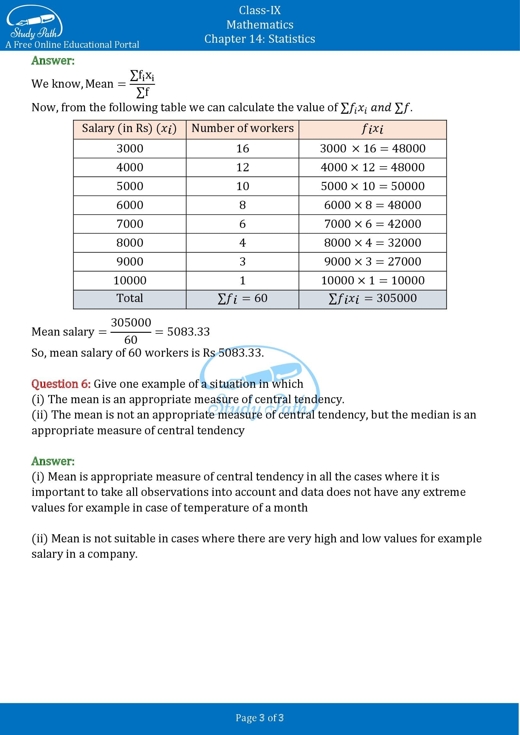 NCERT Solutions for Class 9 Maths Chapter 14 Statistics Exercise 14.4 00003