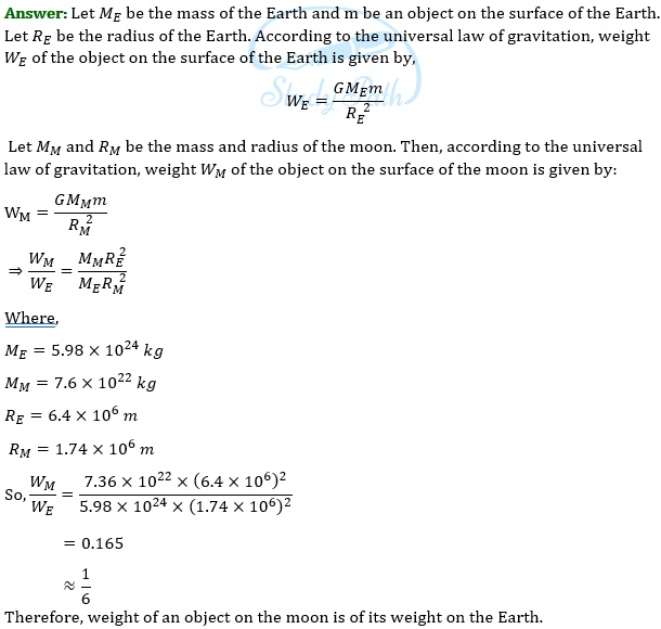 NCERT Solutions for Class 9 Science Chapter 10 Gravitation part 3
