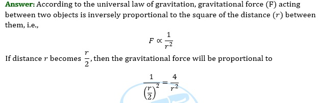 NCERT Solutions for Class 9 Science Chapter 10 Gravitation part 4