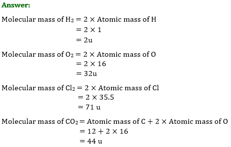 NCERT Solutions for Class 9 Science Chapter 3 Atoms and Molecules part 1