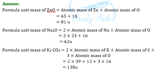 NCERT Solutions for Class 9 Science Chapter 3 Atoms and Molecules part 3