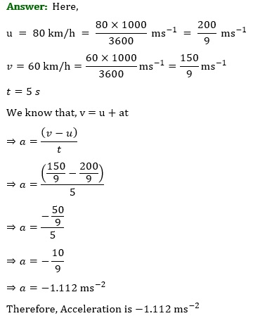 NCERT Solutions for Class 9 Science Chapter 8 Motion part 3